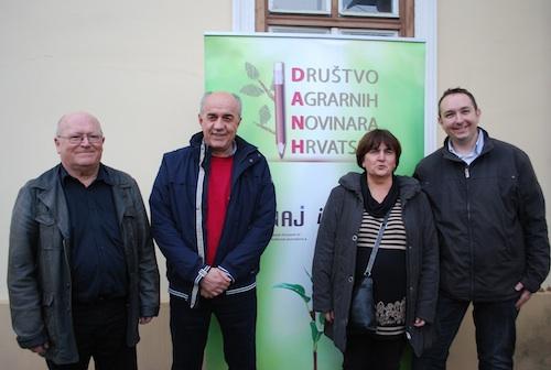 ENAJ Chairman Jef Verhaeren, DANH Chairman Martin Vukovic, ENAJ MC member Tatjana Cop and DANH secretary Goran Beinrauch
