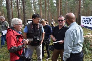 ENAJ journalists in a Finnish forest